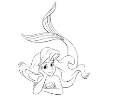 disney princess ariel coloring