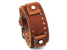 nemesis bn b brown wide leather cuff