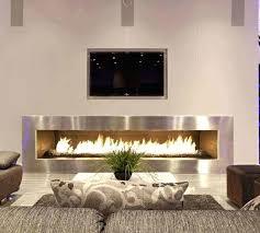 electric modern fireplace
