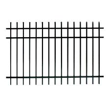 Shop Ironcraft Orleans Black Powder Coated Aluminum Decorative Fence Panel Common 6 Ft X 4 Ft Actu Decorative Fence Panels Aluminum Fence Metal Fence Panels