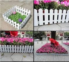 Garden Garden White Plastic Fence Flower Bed Courtyard Kindergarten Decorated Guardrail Small Fence Inserted Into The Ground Fence