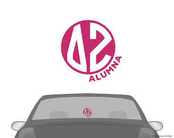 Dz Delta Zeta Alumna Car Laptop Dorm Window Vinyl By Boutiquegreek 4 50 Sorority Decals Alpha Gamma Delta Monogram Alpha Sigma Alpha