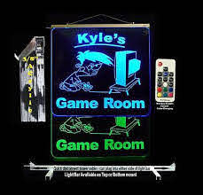 Custom Led Game Room Sign Kids Gifts Neon Sign Ebay
