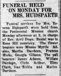 Myrtle Adams flower bearer at a funeral - Newspapers.com