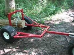 atv log skidder arch hauler you