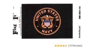 Current Militaria 2001 Now Us Navy Usa Flag Navy Emblem Usn Car Window Decal Original Items Collectibles Militaria
