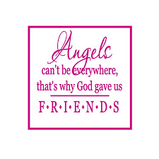 angels can t be everywhere that s why god vinyl quote large