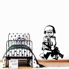 Personalized Lego Soldier Wall Stickers Pvc Creative Decal For Children Room Wall Sticker Vinyl Wallpaper Boy Decals Muursticker Buy At The Price Of 2 01 In Aliexpress Com Imall Com