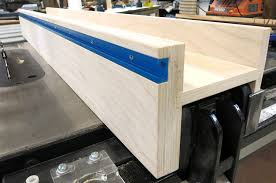 Tall Diy T Track Fence Over A Sawstop Fence Shop Cabinets Wood Tools Tool Table
