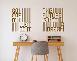 Just Do It Wall Sticker Wall Quotes Decals Letter Wall Dream Wall