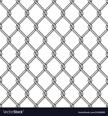 Chain Link Fence Background Royalty Free Vector Image