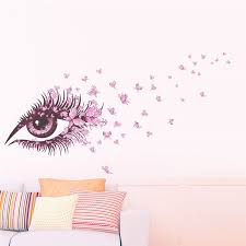 Charming Fairy Girl Eye Wall Sticker For Kids Rooms Flower Butterfly Love Heart Wall Decal Bedroom Sofa Decoration Wall Art Eyes Wall Stickers Sticker For Kids Roomwall Stickers For Kids Aliexpress