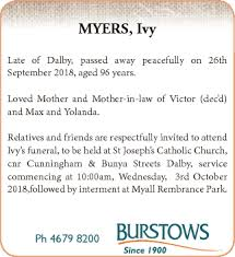 Funeral Notices | South West Qld, Toowoomba / Gatton | Geelong Advertiser