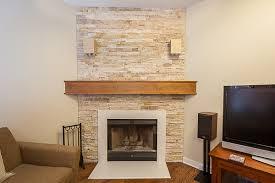 mid century modern fireplace mantel in