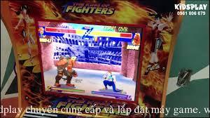 Máy chơi game thùng điện tử siêu thị game đánh võ king fighter - YouTube
