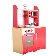 giantex wood kitchen play set for kids