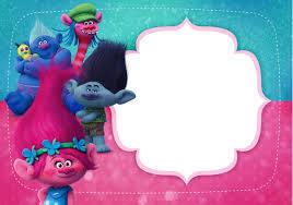 Invitacion Cumpleanos Trolls Fiesta De Cumpleanos Trolls