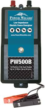 Amazon Com Power Wizard Pw500b Low Impedance Battery 15 Mile Electric Fence Energizer Livestock Equipment Garden Outdoor