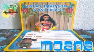 Invitacion Moana Youtube