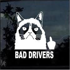 Grumpy Cat Fuck Bad Drivers Window Decal Sticker Custom Sticker Shop