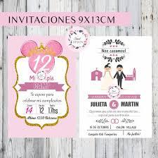 Invitaciones Casamiento Cumpleanos Bautismo Comunion 15 Anos