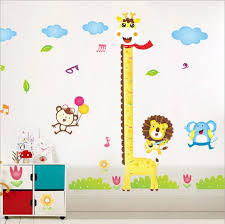 Diy Giraffe Height Chart Measure Wall Stickers Wall Cartoon Animal Kids Baby Room Decoration Buy At The Price Of 5 99 In Banggood Com Imall Com