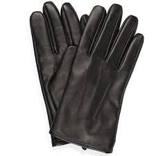 men s leather gloves black