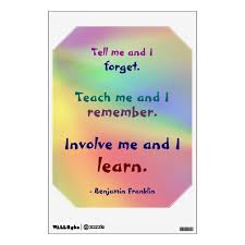 Teach Me Benjamin Franklin Quote Wall Decal Zazzle Com