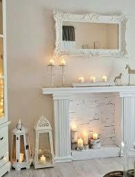 faux fireplace mantel farmhouse decor