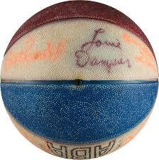 1973-74 Kentucky Colonels Team Signed Mini Ball with Rare Wendell | Lot  #13503 | Heritage Auctions