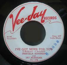 Priscilla Bowman And Jay McShann - I've Got News For You / My Darkest Night  (1956, Vinyl) | Discogs
