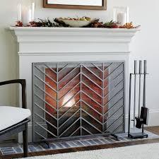 chevron fireplace screen reviews
