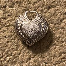 sterling pave diamond enhance pendant