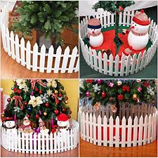 Buy Tendycoco Christmas Tree Fence Decoration White Picket Fence Miniature Home Garden Christmas Xmas Tree Wedding Party Decoration 25 Pieces Online At Low Prices In India Amazon In