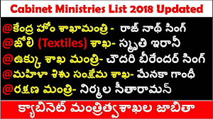 cabinet ministers of india list
