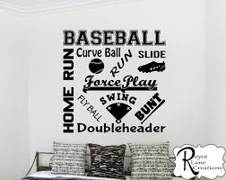 Baseball Wall Decal Baseball Word Art 2 Baseball Wall Decor Etsy