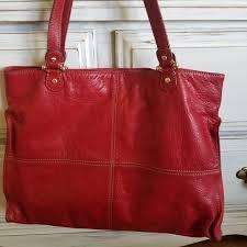 genuine leather tote handbag