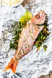 Oven Baked Whole Red Snapper with ...