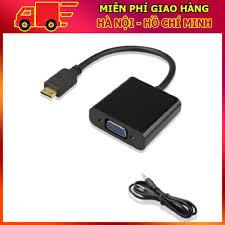 Shop bán Cáp chuyển đổi Mini HDMI sang VGA có âm thanh HDMI To VGA Adapter  (Đen) giá chỉ 77.322₫