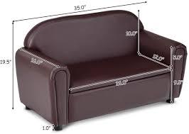 Honey Joy Kids Sofa 2 Seats Couch Armrest Chair Toddler Lounge Bed W Sugar Plum Avenue Llc