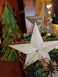 rustic handmade wood star rustic wooden
