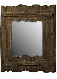 nautical driftwood brown wall mirror