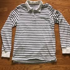 stripe long sleeve rugby shirt