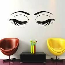 Eyelash Wall Sticker Adhesive Beauty Salon Art Wall Decal Girls Room Mural Decor Ebay