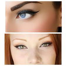 cat eyes and winged eyeliner