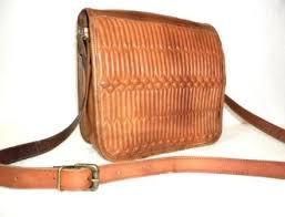 brown embossed leather satchel bag rs