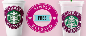 Simply Blessed Free Starbucks Cold Cup And Hot Cup Decals Starsunflower Studio Blog