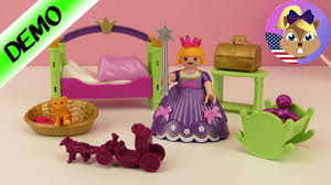 Playmobil Princess Bedroom With Ball Gown Crown Unboxing Girl S Room Demo Youtube