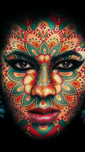 face makeup tattoo black