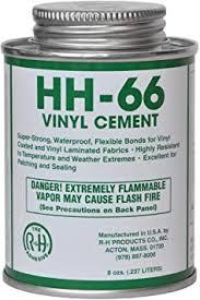 Amazon Com Hh 66 Pvc Vinyl Cement Glue With Brush 8oz 1 Toys Games